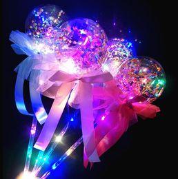 Valentine's LED Balloon Magic Light Emitting Stick Kids Bowknot Luminous Toys Handheld Balloon For Birthday Wedding Party Applique B81402 on Sale