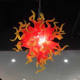 Venta al por mayor de Moderna lámpara de araña 100% soplado a mano Lámparas de cristal Lámparas de techo Lámpara decorativa de cristal de Murano LED Lámpara colgante de cristal