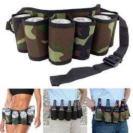 $enCountryForm.capitalKeyWord Australia - Portable 6 Pack Beer Wine Bottle Beverage Soda Can Holster Drink Waist Bag Individuality Party Holder Belt Pockets Popular