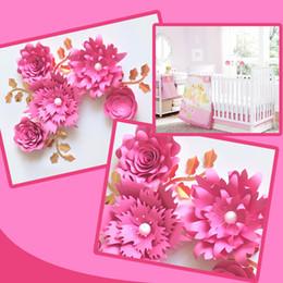 $enCountryForm.capitalKeyWord Australia - Handmade Cardstock Rose DIY Paper Fake Flowers Leaves Set For Wedding & Event Backdrops Decorations Nursery Wall Deco Video Tutorials