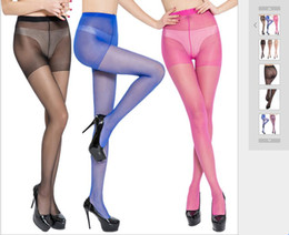 $enCountryForm.capitalKeyWord Australia - Ultra-thin transparent sexy core-wrapped silk silk feels dazzling candy color pantyhose anti-hook silk invisibility plus crotch beauty and s
