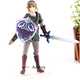 Zelda Link Figure Australia - The Legend of Zelda Twilight Princess Figma 320 Link DX Edition PVC Figma Action Figure Anime Collection Model Toys