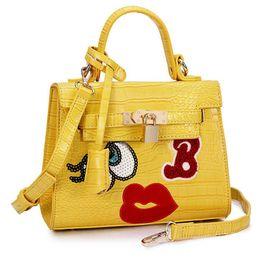 $enCountryForm.capitalKeyWord Australia - Wholesale-women flap bag small cute mouse big eye bags leather handbags clutch sweet heart girl lock sequins bolsa women messenger bags