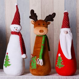 best gift for xmas Canada - Christmas Decorations for Home Santa Claus Snowman Elk Standing Figures Festival Decor Accessories Christmas Doll Xmas Best Gift