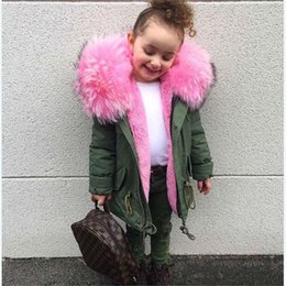 b7c0ec828cbf Cold Russian Girls Coats And Jackets Kids Faux Fur Collar Removable Thicken Coat  For Baby Boy Children Winter Outwear For Girls