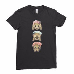 Discount t shirts emoji faces - Funny Monkey Emoji Three 3 Wise Hipster Face Ladies Women T shirt Tee TopFunny free shipping Unisex Casual Tshirt top
