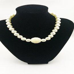 Ingrosso Regalo all'ingrosso dei monili della collana della perla di colore bianco superiore di qualità per le donne e la ragazza