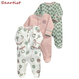 Footed Winter Suit Australia - Seartist Rush Sale Newborn Footed Jumpsuit Kids Winter Autumn Pajamas Bebes Body Suit Footies Baby Boy Girl Clothes 3pcs 30c Q190518