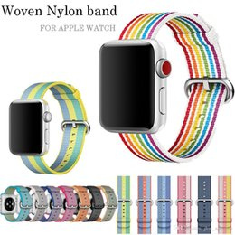 $enCountryForm.capitalKeyWord Australia - New Colour Woven Nylon Replacement Strap Band For Apple Watch 3 2 1 42 38mm Bracelet Wrist Band Watch Wristband for iwatch Nylon Fabric Belt