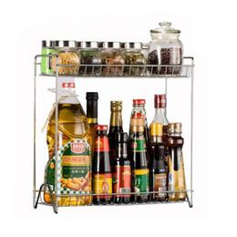 $enCountryForm.capitalKeyWord NZ - Two Layers Stainless Steel Detachable Storage Shelf Rack Home Kitchen Seasoning Holder Organizer -