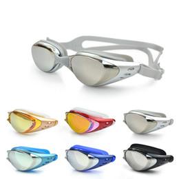 Black Swimming Toys UK - Children Outdoor Swimming Goggles Mirrored With Easy Adjust Strap Anti Fog Anti UV Antileak Swim Goggles