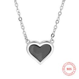 $enCountryForm.capitalKeyWord Australia - new design genuine 925 sterling silver heart shape pendant charm shell heart pendant necklace for sale