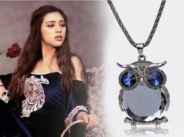 Owl Chain Australia - New Owl Long Jewelry Sweater Chain High Quality South Korea Accessories Pendant Necklaces Crystal Trendy Necklace For Woman