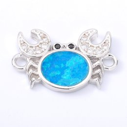 $enCountryForm.capitalKeyWord Australia - Singreal Opal Micro Pave Crab Charms Bracelet necklace Choker Pendant connectors for women DIY Jewelry making accessories