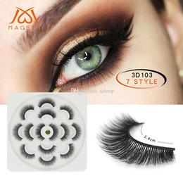 $enCountryForm.capitalKeyWord Australia - Lotus Shape 7 Pairs 3D Mink Lashes Natural Long False Eyelashes Dramatic Volume Fake Lashes 5D Makeup Eyelash Extension New
