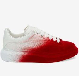 burgundy womens dress shoes 2019 - Gradient pomegranate red Platform Classic Casual Shoes Casual Sports Skateboarding Shoes Mens Womens Sneakers Velvet Hee