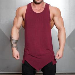 Muscle vests online shopping - Brand bodybuilding stringer tank top men musculation vest gyms clothing fitness men undershirt solid tanktop blank muscle shirt