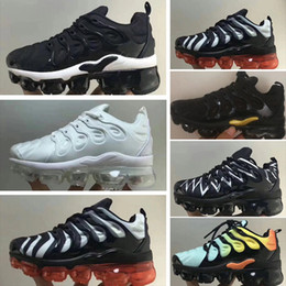 Infant Camo Australia - 2018 Chaussures Air Kids Tn Plus Running Shoes Infant big boys girls Camo Black White Sports Sneakers Run plus TN Designer Shoes