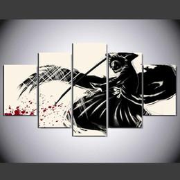 Discount panel anime canvas prints - Bleach Anime,5 PiecesHome Decor HD Printed Modern Art Painting on Canvas (Unframed Framed)
