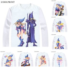 game yu gi oh Australia - Dark Magician Girl Black T Shirt Duel Monsters Yu-Gi-Oh King of Games Men T-shirt Casual Vintage TShirt Printed Long Sleeve Shirts
