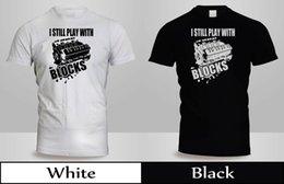 $enCountryForm.capitalKeyWord Canada - I still play with blocks T-Shirt Mens Black Engine Motor Cars Shirt 6