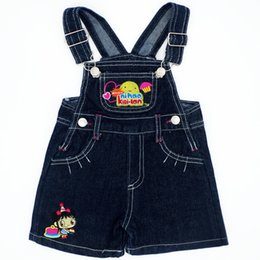overall jumpsuits baby jeans Australia - Lovely Pattern Random Color Baby Boys Girls Bib Jeans Jumpsuits Sling Pants Children Denim Overall Trousers Brand Kids Clothes
