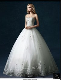 Strapless Sweetheart Red White Wedding Dress Australia - Robe de Mariage cheap ball gown white lace appliques wedding dress beading crystals strapless sweetheart neck stylish wedding gowns hot sale