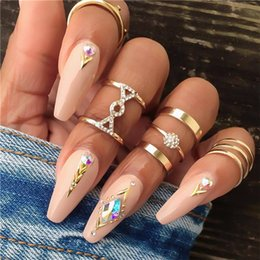 middle finger charms NZ - 20 styles Charm Gold Color Midi Finger Ring Set for Women Vintage Boho Knuckle Party Rings Punk Jewelry Gift for Girl ALXY01