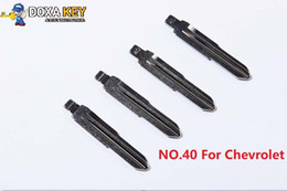 Key Blade Chevrolet Australia - (5pcs) NO.40 Folding Flip Remote Car Key Blank For Chevrolet Uncut Blade