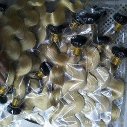 Two Tone Wavy Hair Australia - Good Quality Russian Ombre T1B 613 Two Tone Color Hair 3 Pcs Lot 100% Unprocessed Hair Body Wave Wavy Weave, free Shipping