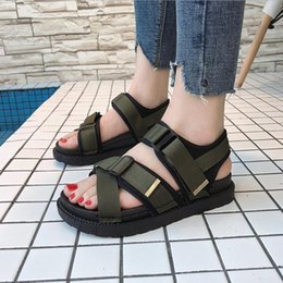Thick Sole Sandals Australia - Thick-soled Sandals Cross Buckle Women Summer New Comfortable Wild Anti-skid Muffin Sandals Roman Female Shoes