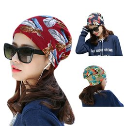 chemo cap 2019 - New Women Floral Printed Stretchy Cotton Hat Turban Women Hair Accessories Fashion Headscarf Cap Chemo Bandana Wrap #H d