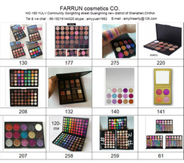Wholesale Glitter Products Australia - eyes makeup catalog eyeshadow accept your logo print if you want more detail about the product pls message us the model NO.