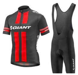 Giant xl bike online shopping - 2019 GIANT Pro Men short sleeve Cycling Jersey Bike Clothing bib shorts shirt set MTB bicycle clothes ropa ciclismo D gel