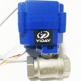 """Ac Control Valve Australia - YIDAY Mini Motorized Ball Valve- 1 2"""" SS304 Ball Valve with Full Port, AC DC 9-24V and CR03 3 Wire"""