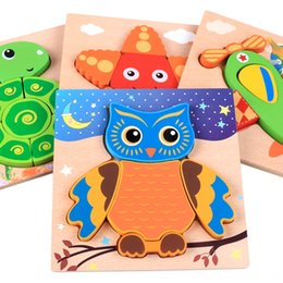 toddlers puzzles Australia - Montessori Materials Clever Board Montessori Educational Wooden Toys Puzzles Puzzles & Games For Children Owls 3D Puzzles for Toddlers Baby