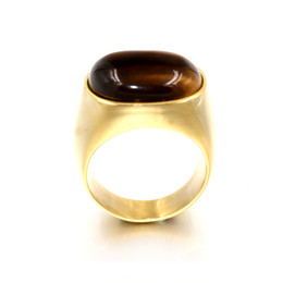 $enCountryForm.capitalKeyWord NZ - Male Gold Silver Vintage Stainless Steel Men Boy Ring Oval Tiger Eye Brown Stones with Symbol Ring Male Anel anillo hombre Jewelry Z4