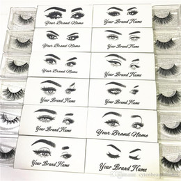 private labels 2019 - Customized Logo and Designs for New Eyelash Private Sticker Label (Used for Mink Lashes Natural 3D Mink Eyelashes False