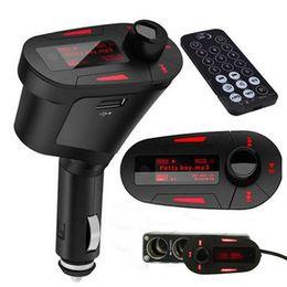 Smart2019 Vehículo Mp3 Manos libres Teléfono Enchufe Tarjeta Automóvil Usb Traer Carga Bluetooth Reproducir Órgano Inalámbrico Modulación de frecuencia
