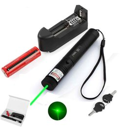 $enCountryForm.capitalKeyWord NZ - Green laser pointer 301 outdoor flashlight with rechargable 18650 battery charger and retail box 532nm high power laser pointer Free Ship