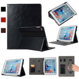 Waterproof Case 5.5 Australia - Classic Half Genuine Leather ipad Case For ipad AIR 5 6 9.7 With Built-in Pen Slot pu Leather Case