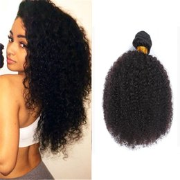 Afro kinky humAn hAir extensions online shopping - 8A Brazilian Afro Kinky Curly Hair Bundles Mink Brazilian Curly Virgin Human Hair Extensions Afro Kinky Curly Weaves Gaga Queen Hair