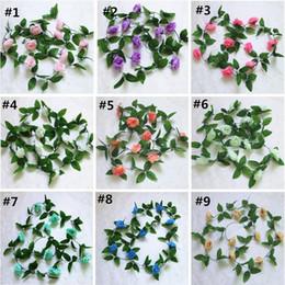 More chocolates online shopping - More Styles Artificial Silk Rose Flower Vine Wedding Decor Hanging Rattan Bride flowers Garland For Home Garden Hotel