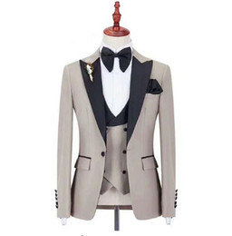 2019 new man suit for wedding evening party satin shawl lapel classic jacket slim fit formal tuxedos custom blazer 3 pieces