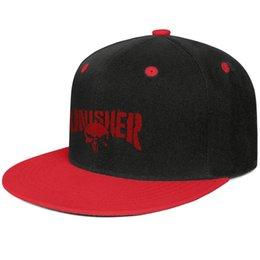 Skull Cap Ball Australia - Red punisher skull logo Unisex Men Caps Womens Caps Fashion Cotton Snapback Flatbrim Workout Hat Ball Cap for Men
