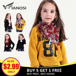Wholesale VIANOSI Style Beautiful Girl Scarf Winter Fashion Warm Faux Fur Scarves for Baby Christmas Gift Clearance Sale