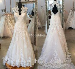 $enCountryForm.capitalKeyWord Australia - Charming Lace Mermaid Wedding Dresses 2019 V-Neck Sweep Train Country Style Castle Bridal Gowns Plus Size Appliques Vestidoe De Noiva Custom