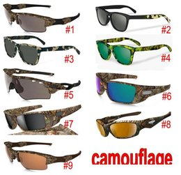 $enCountryForm.capitalKeyWord Australia - New Camouflage Camo Designer Sunglasses sunglasses Eyewear Sun glass frame sunglasses 9 models with zipper case packages