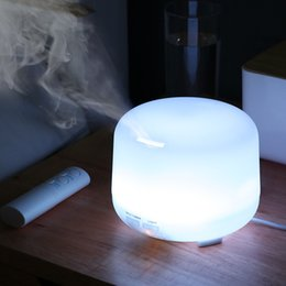 electric aromatherapy diffuser light UK - USB Ultrasonic Air Aroma Humidifier 300ML Remote Control With 7 Color Lights Electric Aromatherapy Essential Oil Aroma Diffuser