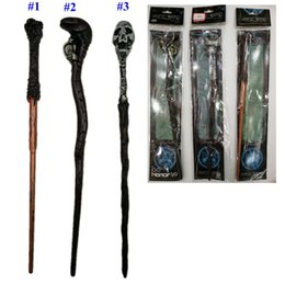$enCountryForm.capitalKeyWord Australia - 3 Styles Harry Potter Magic Wand Creative Harry Potter Skull Series Non-luminous Magical Wand Big Kids Toy MMA2235